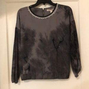 Gray Forever21 Long-sleeve Top